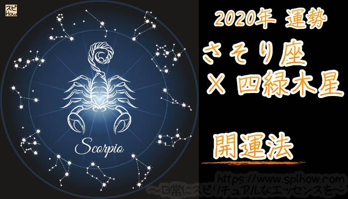 【開運アドバイス】さそり座×四緑木星【2020年】のアイキャッチ画像
