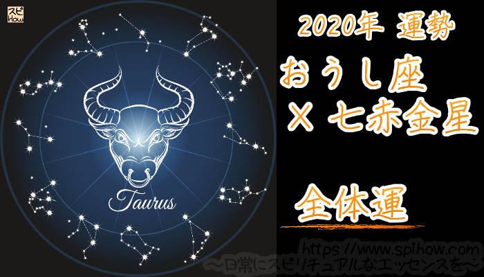 【全体運】おうし座×七赤金星【2020年】のアイキャッチ画像