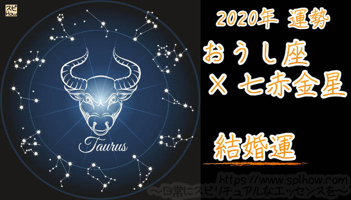 【結婚運】おうし座×七赤金星【2020年】のアイキャッチ画像